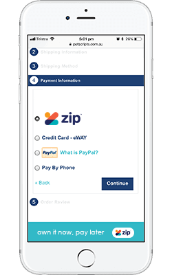 zipPay step 1