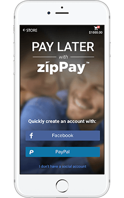 zipPay step 2