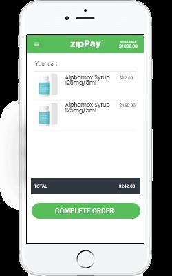 zipPay step 3